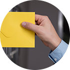 Business mail service envelope handover