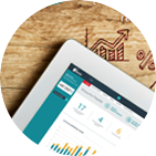 Tracking analytics dashboard tablet