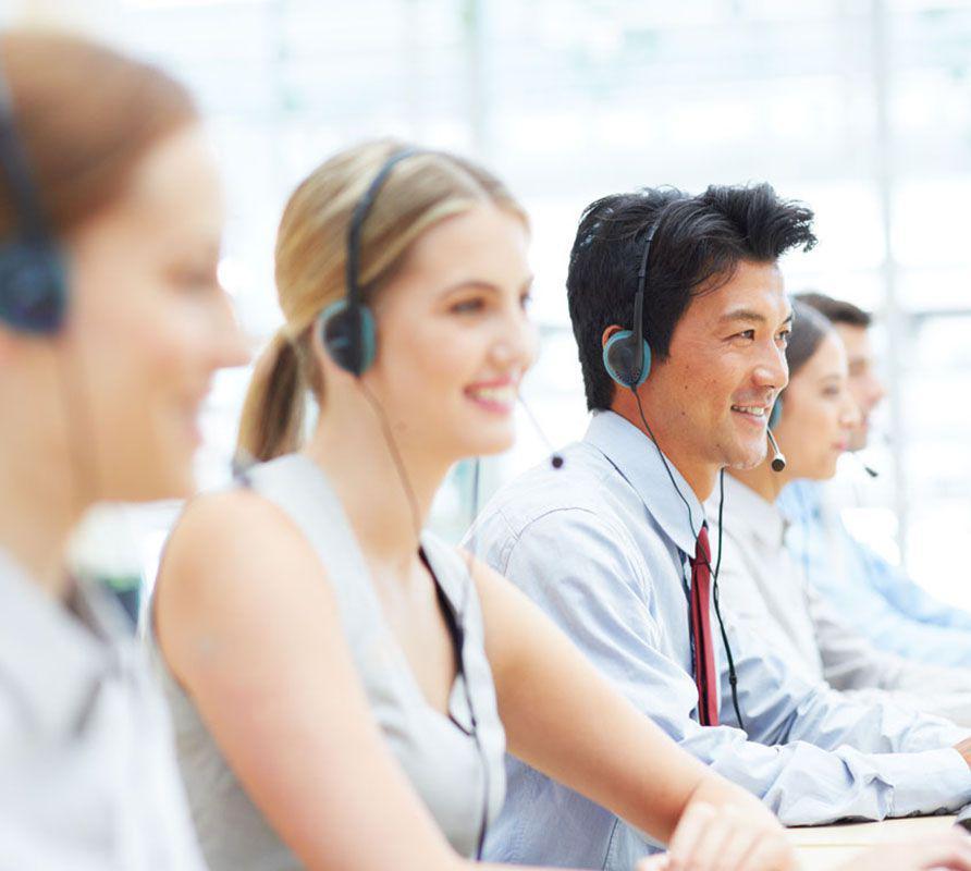 Customer service call centre people
