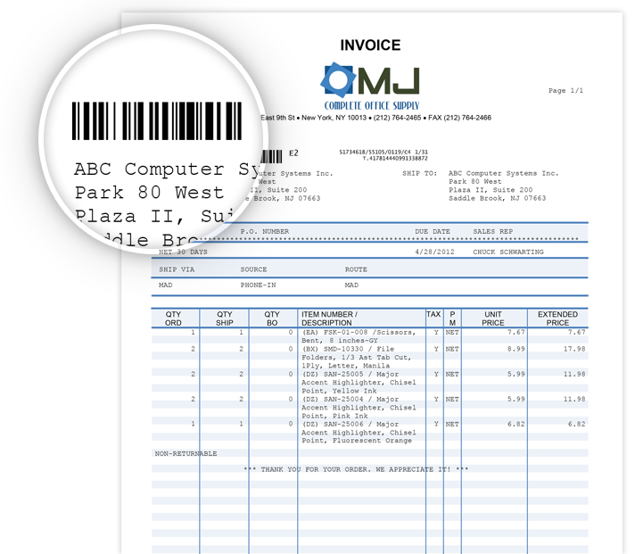 Track documents unique barcode
