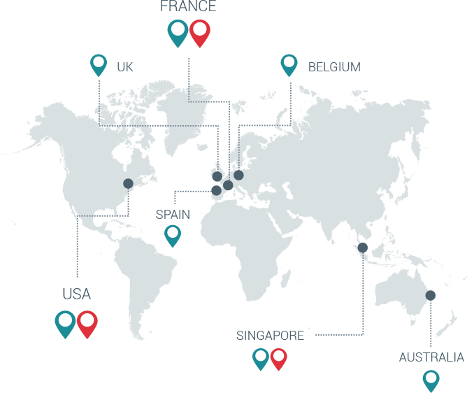 On demand production facilities location map