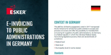 E-Invoicing to Public Administrations in Germany